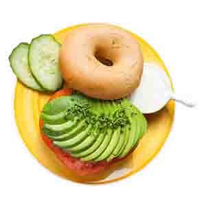 Bagel Avocado