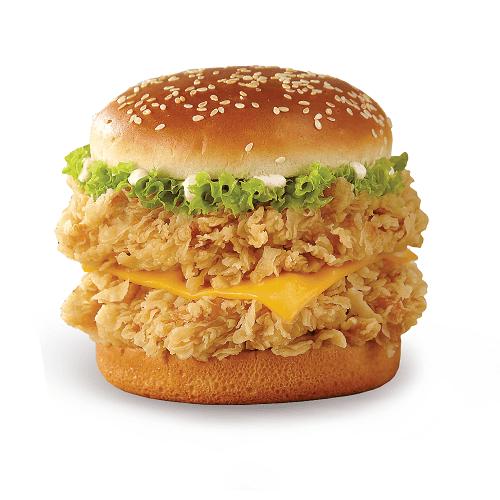 Double crunchy burger
