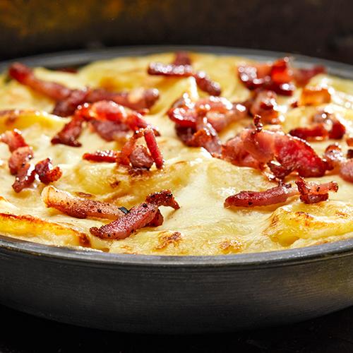 Gratin raclette met bacon