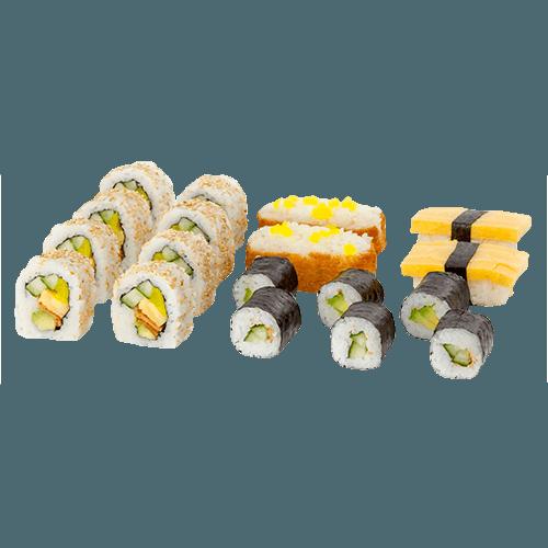 Mixed sushi veggie 1 persoon (18 stuks)