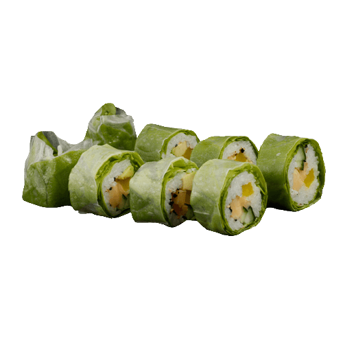 Salad uramaki veggi