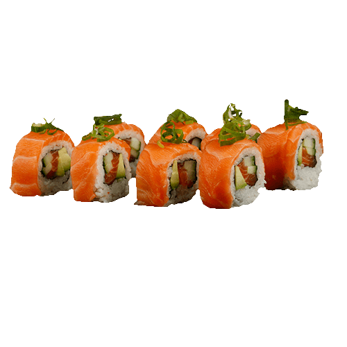 Soft shell rolls Salmon