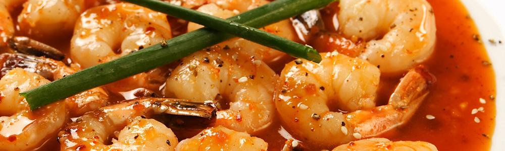 Chinese garnalen gerechten