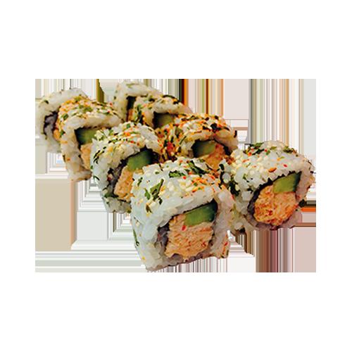 Sake salad roll
