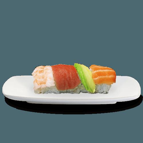 Uramaki rainbow sushi king 4 stuks