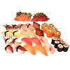 Menu J, sushi en sashimi mix
