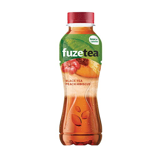 Fuze Tea Black Tea Peach Hibiscus 40cl