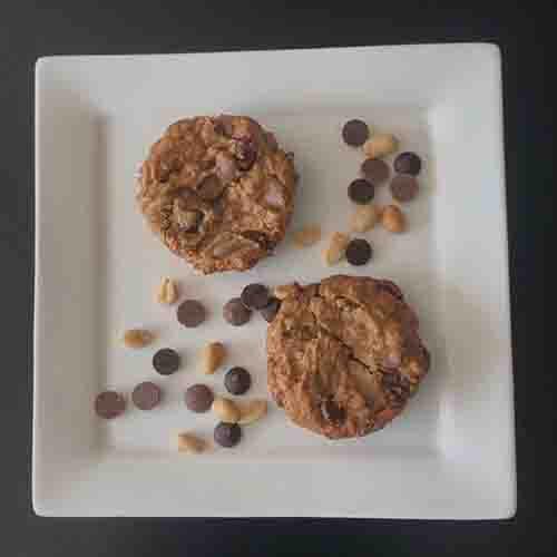 Pindakaas-choco koekje