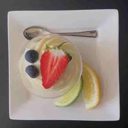 Lemon curd –  mascarpone crème