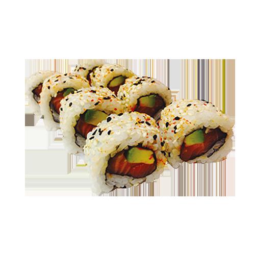 Spicy zalm roll