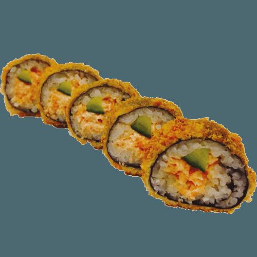 Fried crispy salmon