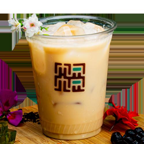 Passion fruit milk tea