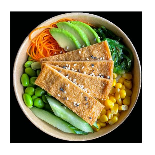 Poke bowl tofu vega