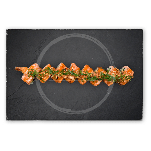 Flamed Salmon Ebi roll