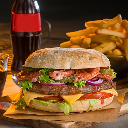 Bbq bacon burger menu