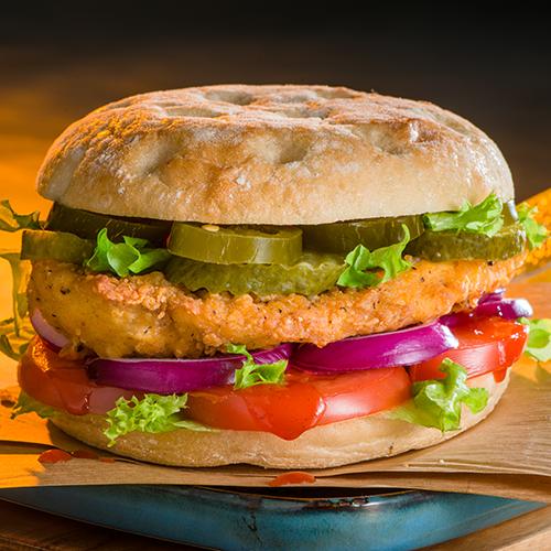 Hot chickenburger