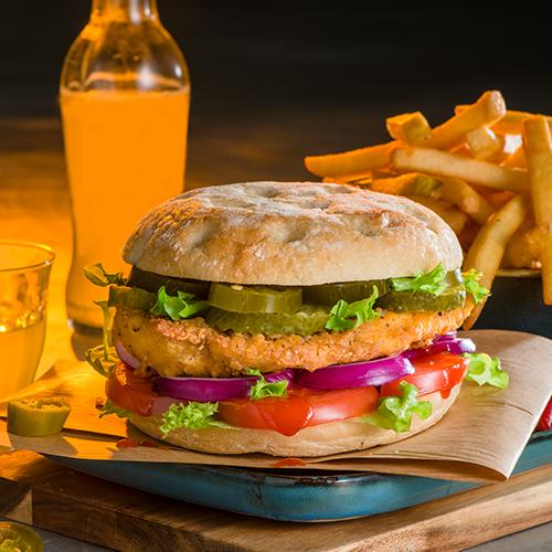 Hot chickenburger menu