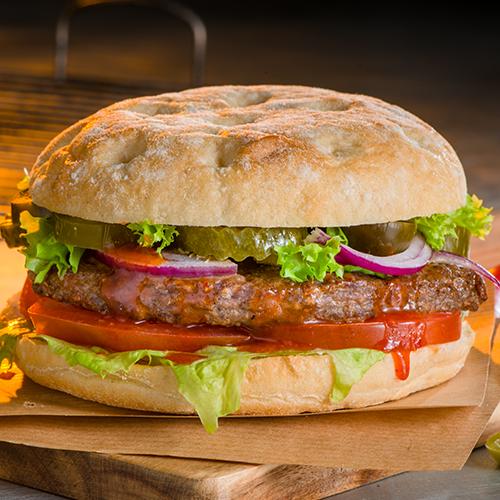Hot chili burger