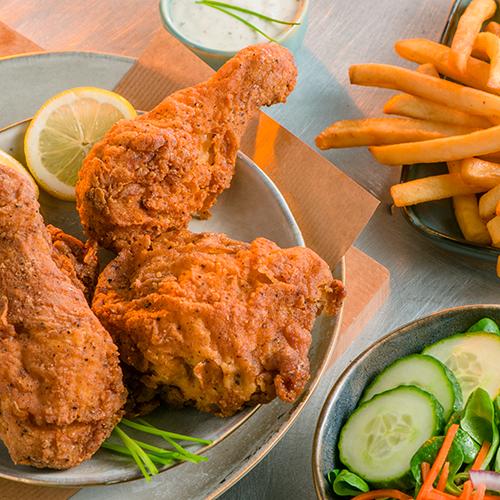 American fried chicken menu