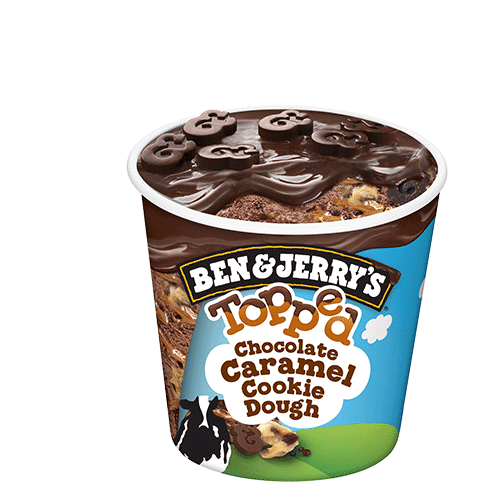 Ben & Jerry's Topped Chocolate Caramel Cookie Dough 465ml