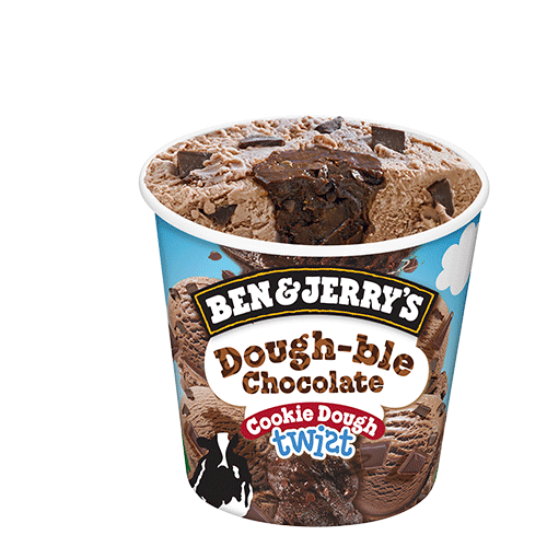 Ben & Jerry's Dough-ble Chocolate Cookie Dough Twist 465ml