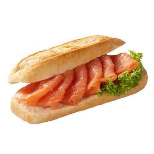 Broodje gerookte zalmfilet