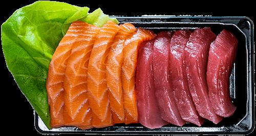Zalm en Tonijn Sashimi 10 stuks